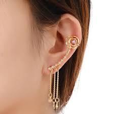 earing design online cheap flower tassel design earring clip