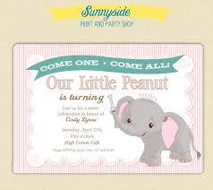 elephant birthday invitations themesflip com