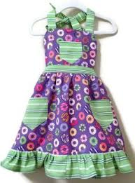 retro style apron children s apron toddler apron apron