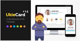 Resume Html Template 20 Best Resume Html Website Templates For Vcard Cv U0026 Portfolio