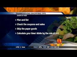 of free thanksgiving shopping tips
