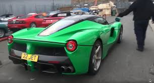 laferrari crash test jay kay u0027s green laferrari runs in