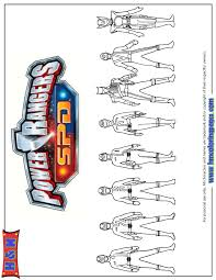 power rangers spd group coloring page h u0026 m coloring pages