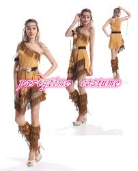 Halloween Indian Costumes Aliexpress Buy Free Pp Ladies Pocahontas Native American