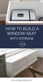 how to build a window seat with storage diy tutorial