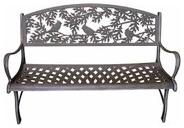 Cast Iron Loveseat Cast Iron Garden Bench Contemporary Outdoor Benches By