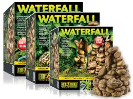 exo terra reptile waterfall pebble with terrarium vivarium