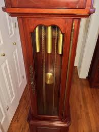 Grandfather Clock Weights Vintage Daneker Grandfather Clock Diplomat Model Cherry Case Not