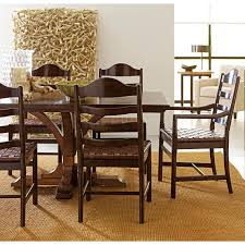 stanley pedestal dining table the classic portfolio artisan 7 piece table and chair set by stanley