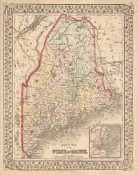 Maine State Map by Antique Maps Of Maine
