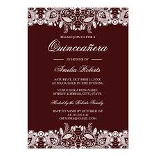quinceanera invitations vintage white lace burgundy quinceanera invitation zazzle