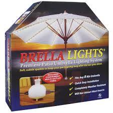 Patio Umbrella String Lights Blue Brella Lights Patio Umbrella Lighting System With
