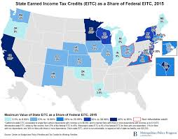 States With No Income Tax Map by States Adopt And Adapt The Eitc To Address Local Need
