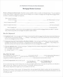 mortgage contract templates 6 free pdf format download free