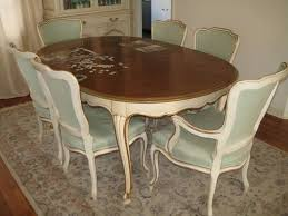 french provincial dining room set 7pc dining room set vintage john widdicomb french provincial