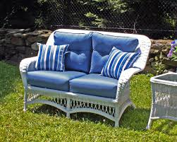 Wicker Settee Replacement Cushions by Outdoor White Wicker Loveseat Princeton
