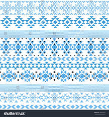 ethnic seamless pattern triangle abstract geometric stock vector