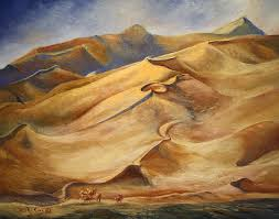 sand dunes painting by roena king