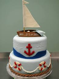 nautical baby shower cakes nautical baby shower with a sleeping baby in the boat