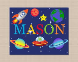 Kids Space Room by Outer Space Wall Art Etsy