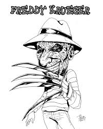freddy krueger coloring pages coloring pages freddy krueger