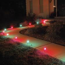 10ct electric pathway lights green target
