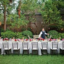 rent chairs and tables for cheap backyard wedding reception lake party rentals