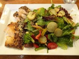 restaurant cuisine nicoise sesame seared salmon nicoise salad picture of the berghoff