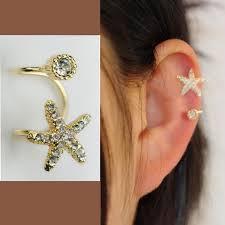 ear cuff piercing and rhinestone ear cuff single no piercing lilyfair jewelry