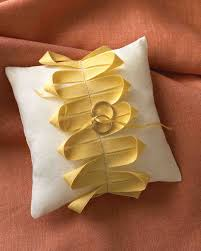 Knot Pillows by Ring Bearer Pillow Ideas You Can Make On Your Own Martha Stewart