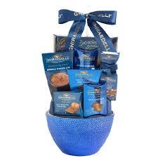 ghirardelli gift basket ghirardelli chocolate treats gift basket blue butterdrop