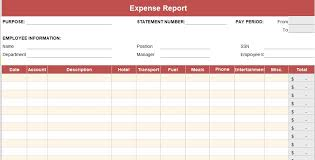 Monthly Expense Report Template Excel Expense Report Template Daily Weekly Monthly Annual