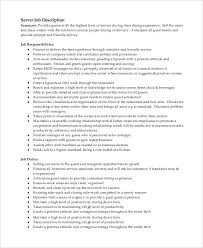Resume For Server Job by Resumes For Servers 7981 Best Resume Career Termplate Free Images