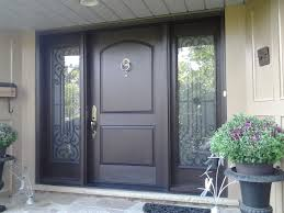 Custom Fiberglass Doors Exterior Oversize Fiberglass Door System With Custom Wrought Iron Sidelites