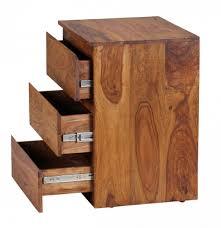 Schreibtisch 100 X 40 Natur Sheesham Massivholz Rollcontainer 47 X 40 X 61 Für