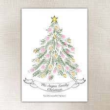 personalised fingerprint christmas tree by lillypea event