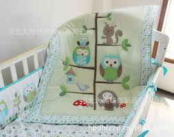 Boy Owl Crib Bedding Sets Wholesale Happy Owls And Friends Baby Crib Bedding Set Cot