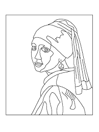 famous artwork coloring pages funycoloring