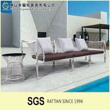 sale simple outdoor garden stainless steel furniture 3 seater