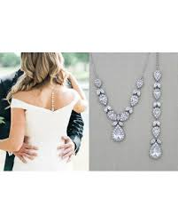 wedding backdrop necklace find the best deals on bridal backdrop necklace wedding