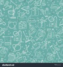house cleaning seamless vector pattern cleaning stock vector