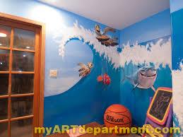 disney characters mural for kids u0027 playroom