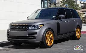 matte gold bentley range rover supercharged