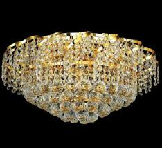 Crystal Flush Mount Ceiling Light Fixture by Grand Light Product Categories Crystal Ceiling Lighting