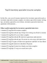 Inventory Specialist Resume Stern Nyu Application Essays A Level Biology Essay Help