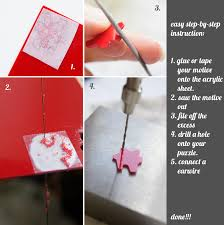 diy acrylic puzzle earring