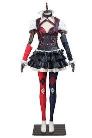 Batman Arkham Halloween Costumes Dc Comics Batman Arkham Asylum Harley Quinn Cosplay Costume