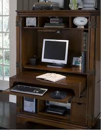 Corner Computer Desk Armoire by Furniture Natural Brown Wood Computer Armoire With Some Mini
