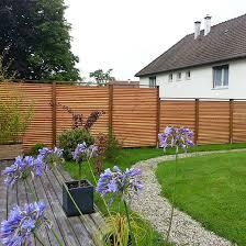 cloture jardin bois mur de clôture portail portillon les jardins de la vallée
