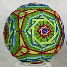 embroidered temari ornaments